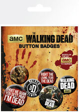 Button Badge 6er Pack ZOMBIE - I Love Zombies, Brains 2x32mm & 4x25mm 0468 NEU