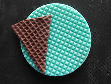 Silicone Mould TEXTURE WAFFLE Sugarcraft Cake Decorating Fondant / fimo mold