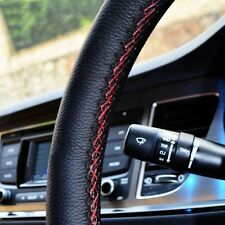 Car PU Leather Steering Wheel Cover With Needles and Thread 38cm 3Color