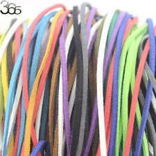 Mixed Manmade Leather Suede Cord Line Findings Jewelry Making Design 10 Strands