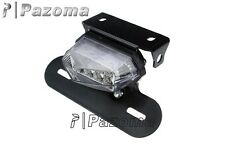 Motorcycle Clear LED Taillight Assembly stop light taillamp Brake Lights Chopper