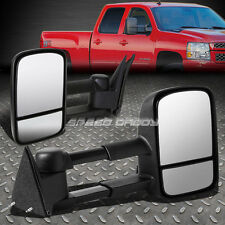 TELESCOPIC DUAL EXTENDABLE ARM REAR VIEW TOWING SIDE MIRROR FOR 88-00 CHEVY/GMC