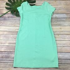 Banana Republic Shift Dress Size 12 Mint Green Fitted Stretch Pastel Career Work