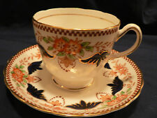 TUSCAN TEA CUP AND SAUCER BATWING STYLE