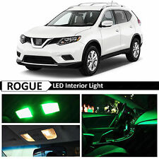 11x Green LED Lights Interior Package Kit for 2008-2016 Rogue + TOOL