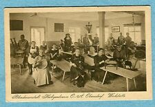 G1729  Postcard  Workshop for the Blind,  Women Making  Baskets in Germany