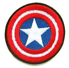 Captain America Iron On Patch- Marvel Avengers Shield Superhero Appliques Craft