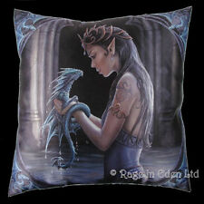 *WATER DRAGON* Goth Fairy Fantasy Art Cushion By Anne Stokes