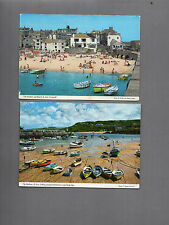 1970s St Ives  2x cards St Ives Harbour John Hinde card unposted