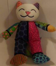 "10""BrittoROMERO BRITTO POP PLUSH ART COCO THE KITTY PATCHWORK PLUSH DOLL FIGURE"