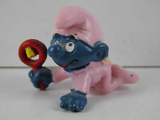 A26-schtroumpf/smurf 2.0202 babyschlumpf rose/pink Baby with rattle, schleich