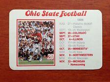 CFB 1986 OHIO STATE BUCKEYES OSU Football Schedule College QB JIM KARSATOS