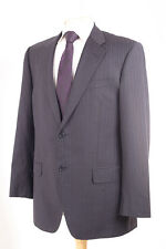 M&S COLLEZIONE GREY PINSTRIPE PURO SUPER 110'S MEN'S SUIT 40R DRY-CLEANED