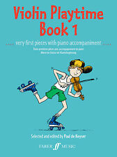 Violin Fiddle Playtime 1 Instrumental Solo Play Violin SONGS FABER Music BOOK