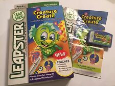 LEAP FROG LEAPSTER 1 I 2 II GAME CREATURE CREATE +BOX & INSTRUCTIONS COMPLETE