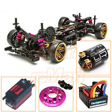 3Racing Sakura D4 AWD 1:10 Drift Car Kit Servo ESC 13T Motor EP RC Combo #CB0856