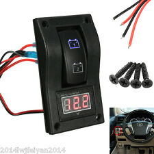 12V Car Truck Boat Voltmeter LED Dual Battery Test Panel Rocker Switch ON-OFF-ON