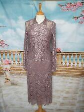Phase Eight Dress and Jacket 10 Lace Beaded Evening Downton Cruise Dusky Pink