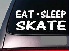 "Eat Sleep Skate Sticker *H5* 8"" vinyl inline skates roller ice hockey figure"