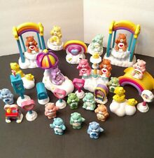 Huge Lot Of 17 Vintage 1980'S Care A Lot Care Bears Figures And Accessories