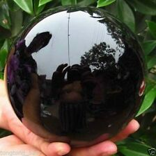 HOT SELL OBSIDIAN POLISHED BLACK CRYSTAL SPHERE BALL 100MM +STAND==