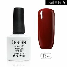 BELLE FILLE Red Series Nail Art Gel Polish Soak-off VU&LED Nail Polish 10ml