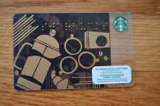 "Canada Series Starbucks ""BLACK BRAILLE 2013"" Gift Card - New No Value"