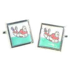 Welsh Flag & Rugby Player Sport Cufflinks & Gift Pouch
