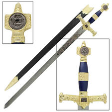 Medieval Crusader Replica Blue King Solomon Longsword