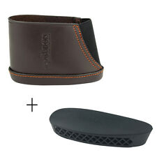 Hunting Rifle Rubber ButtPad & Slip-on Gun Recoil Pad Butt Stock Real Leather