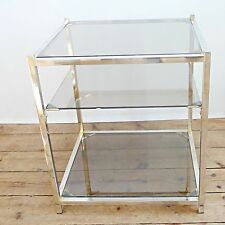 Table verre vintage en vente ebay for Table bout de canape en verre