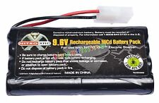 1x Ni-cd 9.6v 2400mAh Rechargeable Battery Pack Tamiya Connector