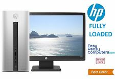 """NEW HP Desktop Computer Fast Tower PC Windows 10 WIFI 20"""" Monitor (FULLY LOADED)"""