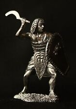 Egyptian Warrior with Khopesh Tin Toy soldier 54 mm., figurine, metal sculpture.