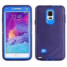 For Samsung Galaxy Note 4 Navy Defender Case Protector Cover [Fits Otterbox]