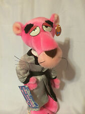 "Pink Panther Plush Poseable Touch Of Velvet Tagged Vintage 1980 16"" Tall"