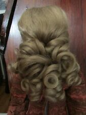 SIZE 10 LODAMIA WIG  MOHAIR SYNTHETIC  ASH BLONDE HAND TIED MODERN ANTIQUE DOLL