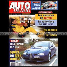 AUTO HEBDO N°1364 ALFA ROMEO 147 GTA COLIN McRA SAM HORNISH JANI PAASONEN 2002