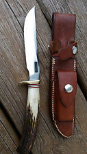 RANDALL 7-5 Stag Handle Hunting Fishing knife  vintage