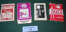 Lot of 4 Misc Playing Card Deck Decks