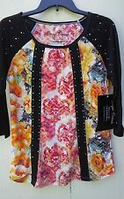 ONQUE CASUALS  SIZE SMALL, MULTI COLOR,3/4 SLEEVE BLOUSE