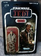 Return jedi STAR WARS HAN SOLO TRENCH COAT figure 1983 kenner unpunched vintage