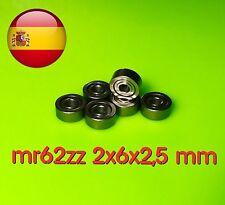 MR62ZZ 2x6x2,5 mm 2*6*2.5 mm rodamiento mr 62 zz 2z envío rápido desde España