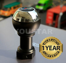 HEAVY WEIGHTED CHROME / BLACK SHORT SHIFTER BMW 5 and 6 Speed M/T Gear Knob #3B