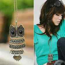 Ms. fashion jewelry retro owl sweater chain necklace long section of Europe