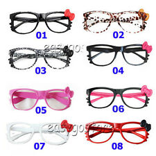1 pcs Hello Kitty Bow Bowtie Women Girl Glasses Frame Costume nerdy Gift No Lens