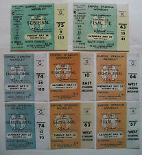 England world cup tickets 1966 x 8 All 6 games + Semi And Final unused + wallet