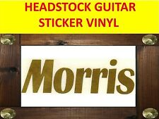 MORRIS GOLD AUFKLEBER STICKER HEADSTOCK VISIT MY STORE GUITAR & BASS CUSTOM