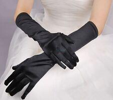 Fashion lange Sexy Satinhandschuhe Abendhandschuhe Brauthandschuhe Hochzeit