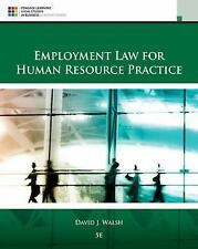 Employement Law for Human Resource Practice by David J. Walsh (2015, Hardcover)